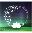 White symbol on natural colorod background vector image