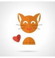 Pets love simple flat icon vector image