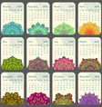 2016 Calendar decorated with circular flower vector image vector image