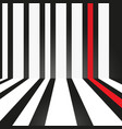 abstract strip white and red on black background vector image vector image