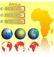 Africa map on yellow background vector image