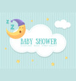 bashower invitation template cute card vector image vector image