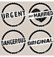 black grunge stamps vector image