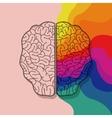 Brain organ and creativity concept design vector image vector image