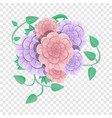 camellia flower concept background cartoon style vector image