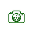 camera golf logo icon design vector image