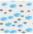 Cartoon clouds seamless pattern 634 vector image vector image