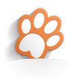 cat paw icon paper vector image vector image
