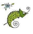 chameleon cartoon sketch for your design vector image vector image