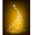 Christmas gold tree with stars vector image vector image