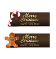 christmas sweets gingerbread man and xmas candy vector image
