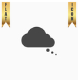 cloud thought icon vector image vector image