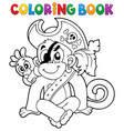 coloring book pirate monkey image 1 vector image vector image