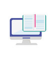 computer open book knowledge learning online vector image