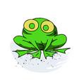 crazy frog cartoon hand drawn image vector image vector image