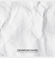 crumpled white paper texture background pixel vector image vector image