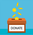 donate money with box vector image