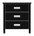 drawer icon simple style vector image