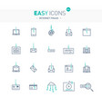 easy icons 51e intetnet fraud vector image vector image