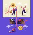 female character with bipolar mental brain vector image vector image
