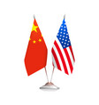 flags of usa and china vector image vector image