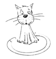 Funny cat sketch style drawing vector image
