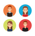 group of people avatars characters vector image vector image