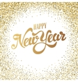 happy new year gold glitter lettering with frame vector image vector image
