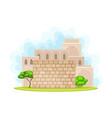 holy jerusalem city wall and architecture