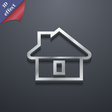 House icon symbol 3D style Trendy modern design vector image