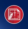 House plan icon button logo symbol concept vector image