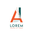 ja modern logo design with orange and green color vector image vector image