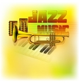 jazz background music vector image