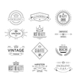Label and Vintage Premium Quality Collection vector image vector image