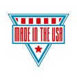 label logo badge or sign made in usa vector image