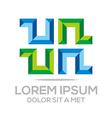 letter un combination alphabet design icon vector image vector image
