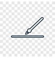linear icon isolated on transparent background vector image