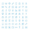 liner office equipment icons vector image
