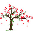 Love Tree with Heart liana and vine vector image