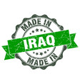 made in iraq round seal vector image vector image