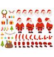 mascot creation kit of christmas character santa vector image vector image