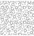 monochrome hearts pattern vector image