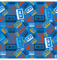 Old audio cassette pattern vector image vector image
