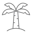 palm tree thin line icon nature and plant vector image vector image
