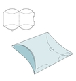 Pillow folding box vector image vector image
