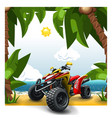quad bike on a beach vector image vector image