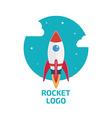 Rocket logo one vector image vector image