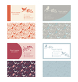 Set of business cards template with nature themes vector image vector image