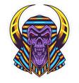 skull pharaoh head mascot logo vector image vector image