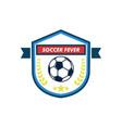soccer fever elegant shield footbal club emblem vector image vector image